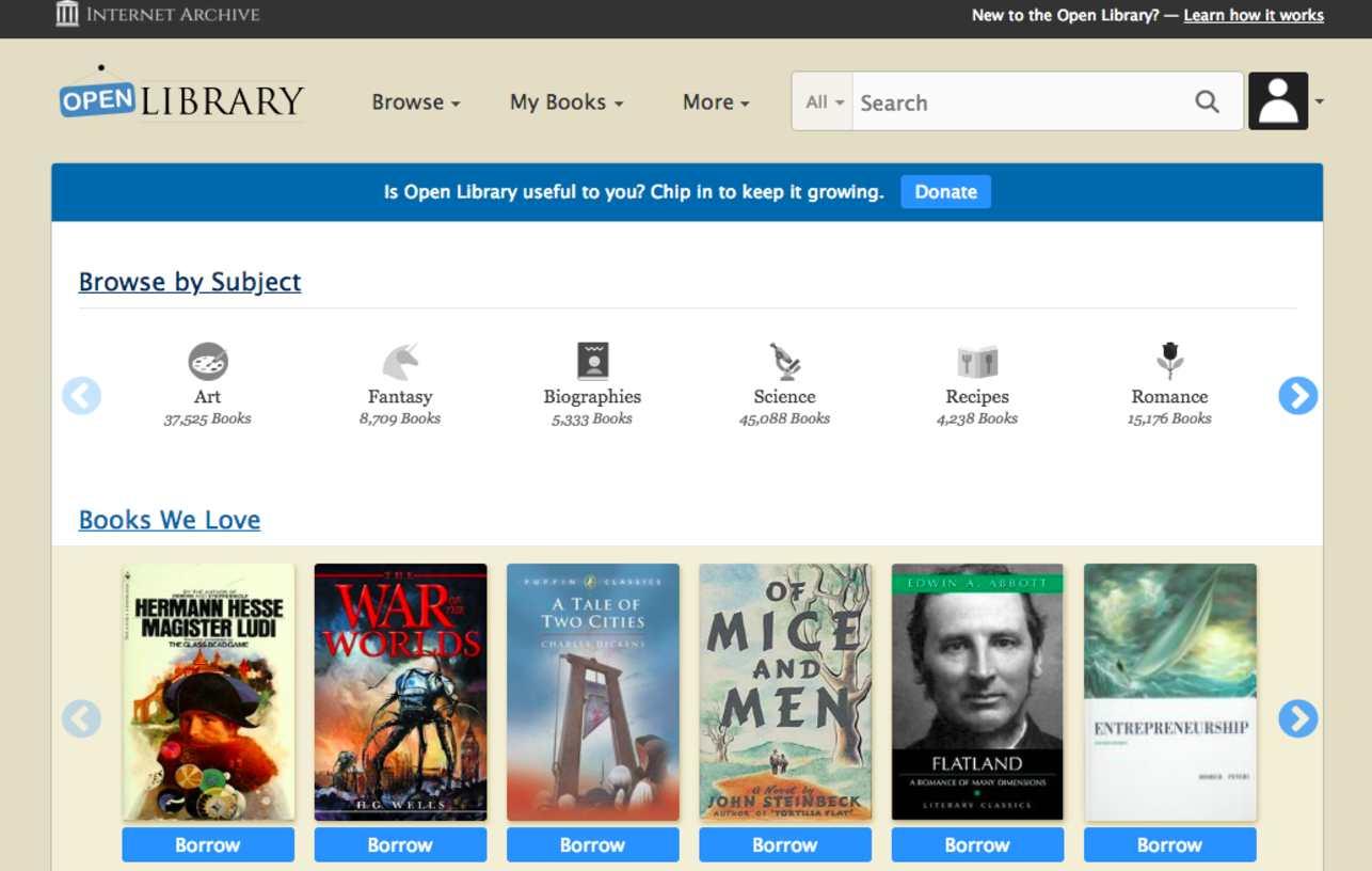 المكتبة المفتوحة Open Library تنزيل الكتب المجانية