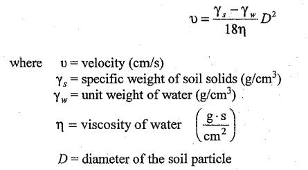 قانون ستوك التحليل الحبيبي للتربة بطريقة الهيدروميتر