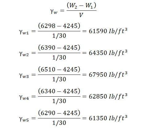 حساب الكثافة الكلية تجربة بروكتور القياسية - Proctor Test
