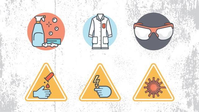 علامات السلامة المختبرية