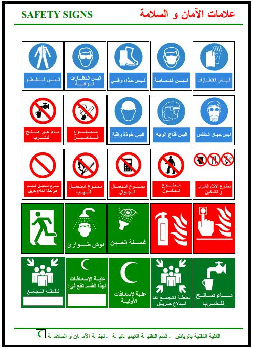 علامات الامان والسلامة